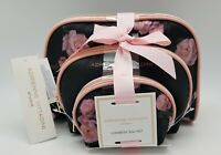 New ADRIENNE VITTADINI 3 Cosmetic Bag Set Travel Makeup Pouch Toiletry Organizer