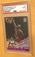 MICHAEL JORDAN 1993 Topps Stadium Club BEAM TEAM SP PSA 9 MINT card#4