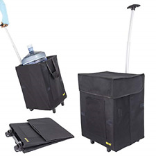 dbest products Bigger Smart Cart, Black Collapsible Rolling Utility Cart Basket