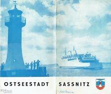 Weißflog Ostseestadt Sassnitz Prospekt DDR 1965 Rügen Mecklenburg