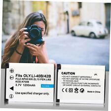 Rechargeable Camcorders Camera Battery 1200mah For OLYMPUS Camera Li-40B 42B-S