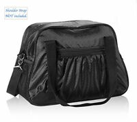 Thirty One ALL-IN TOTE black travel large tote sport gym shoulder bag 31 new
