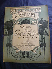 Partition La rose noire Georges Aubry 1910 Salabert Grand Format Music Sheet