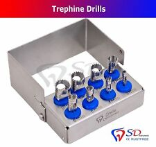 German Dental Trephine Drills Kit 8 PCS Implant Surgical / Dental Surgery Drills