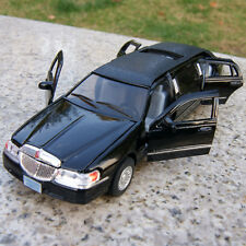 Kinsmart 1999 Lincoln Town Car Stretch Limousine 1:38 Diecast Black Toys Gifts