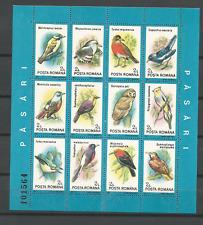 Roumanie série oiseaux Y&T N°211 & 212 2 feuillets de 24 timbres neufs /ROUKRT3