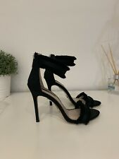 Topshop Barely There Heels, Black, Size 5