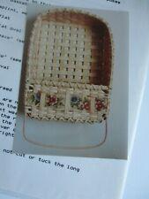 "Basket Weaving Pattern Only ""Towel Bar Basket"""
