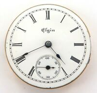 1892 ELGIN 0S 7J LADIES POCKET WATCH MOVEMENT. NICE DIAL.