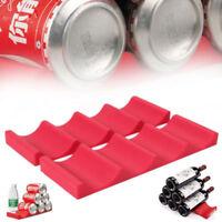 Neu Bier Flaschenhalter Silikon Flaschenregal Camping Flaschenablage rot