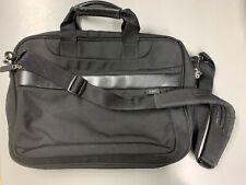 L.L. Bean Laptop Bag Black Canvas Business Computer Attache USA
