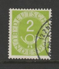 W Germany 1951 Posthorn 2pf Apple Green SG 1045 Fu
