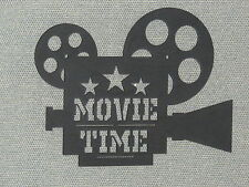 CUSTOM MOVIE TIME CAMERA & REELS CINEMA HOME THEATER WALL DECOR ART