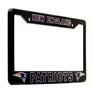 New England Patriots Black License Plate Frame Cover - EliteAuto3K