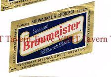 Braumeister Special PIlsener Beer 7oz Independent Milwaukee Brewery Tavern TRove