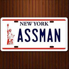 Seinfeld  Cosmo Kramer ASSMAN  replica license plate Aluminum Premium Quality