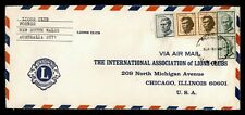 Dr Who Australia Lions Intl Forbes Airmail To Usa C218397