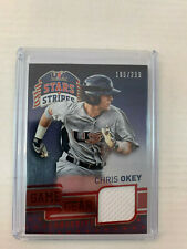 Chris Okey 2015 USA Baseball Stars & Stripes Jersey Card #20 Serial #185/299