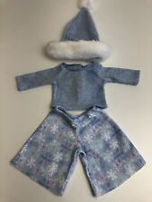 American Girl Doll Blue Winter Wonderland Christmas Outfit . VGC🇬🇧
