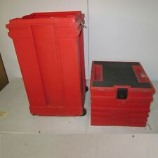 Nomadic Display Hard Case 42x18x16 Trade Show Exhibit Step Stool Lid Red Plastic