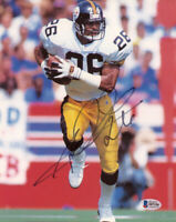 ROD WOODSON SIGNED AUTOGRAPHED 8x10 PHOTO PITTSBURGH STEELERS BECKETT BAS