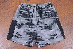 "Nike Dri-Fit Challenger 7"" Lined Run Shorts Gray Black Camo Men's Medium M"