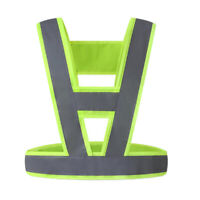 Reflective Safety Vest Lightweight Breathable Fluorescent Polyester Fabric