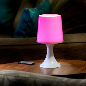 Auraglow Remote Control Colour Changing Wireless LED Mood Light Table Desk Lamp