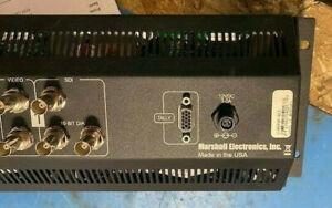 """Marshall Electronics V-R573P-SDI Triple 5.7"""" Rack Mounted LCD Panel (Used)"""