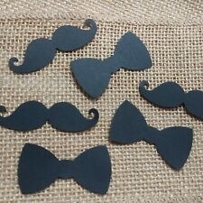 Mustache And Bow Tie Confetti 50 Count, Little Man Birthday, Boy Baby Shower