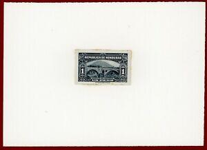 Honduras 1931 #306, Plate Proof on Card, Loarque Bridge, ABNC