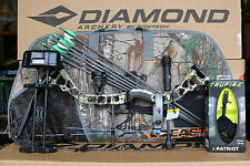 2018 Diamond Bowtech Infinite Edge Pro LH CAMO Bow UPGRADED Package Camo Case