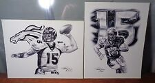 2 Different 8x10 Photo Prints TIM TEBOW Numbered CLOSE-OUT