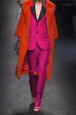 GUCCI Lipstick Faille-trimmed wool & silk-blend crepe Tuxedo blazer IT44 RP£2500