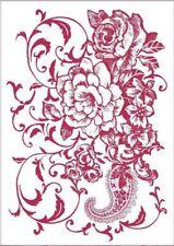 Stamperia A4 Mix Media Stencil –  Floral Ramage KSG432 New