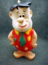 Vintage 1960 Fred Flintstone Plastic Rubber Head 12 Inch Figure Toy Doll