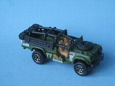 Matchbox sahara survivor land rover armée sas militaire vert corps jouet voiture bp 75mm