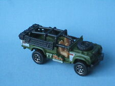 Matchbox Sahara Survivor Land Rover Army SAS Military Green Body Toy Car BP 75mm