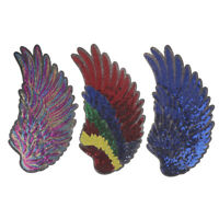1Pair Decor Iron-On Embroidered Patch Large Angel Wings Applique Motif Sequ md
