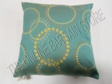 "Grandinroad Elaine Smith Oasis Rings Outdoor Patio Chair Throw Pillow 17"" Teal"