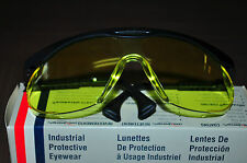 Uvex Eyewear Safety Glasses Skyper S1902 Black Frame Amber lens Made in USA