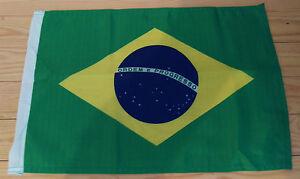 "BRAZIL FLAG - 45cm x 30cm - 18"" x 12""  Brazilian Flag"