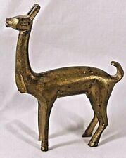 Vintage Brass Llama Miniature Figurine