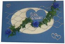 10 x Einladung Einladungskarte Hochzeit Einladungen KH001 blau