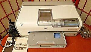 HP Photosmart D7360 Inkjet Color Photo Printer EUC Complete Works Nice *NR*