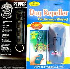 Ultrasonic Anti Bark Training Dog Repeller Police Magnum 1/2oz FT Pepper Spray