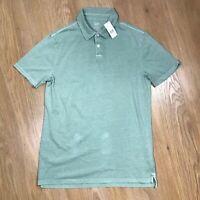 Gap Mens Polo Shirt Size Small Green Cotton Collared Top Short Sleeve