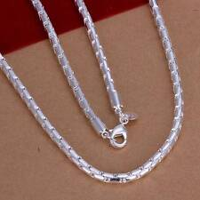 Fashion 925Sterling Solid Silver Men Jewelry Chain Necklace For Women N189