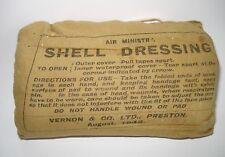 WW2 RAF Air Ministry Issue SHELL DRESSING 1944 Vernon & Co Ltd, Preston ORIGINAL