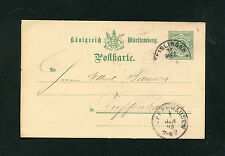 Württemberg P34  aus Eislingen  31. Dez 1892   (EB-16)